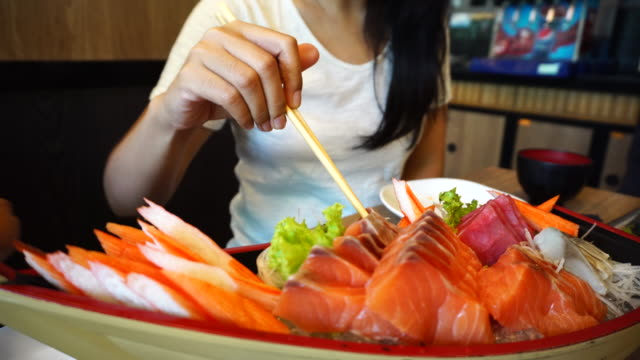 Salmon Sashimi video