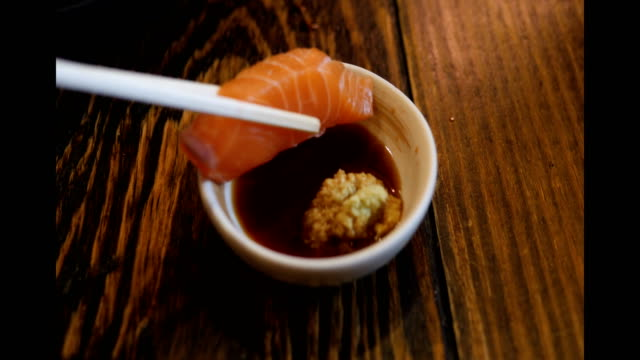 Lachs-Sashimi  – Video