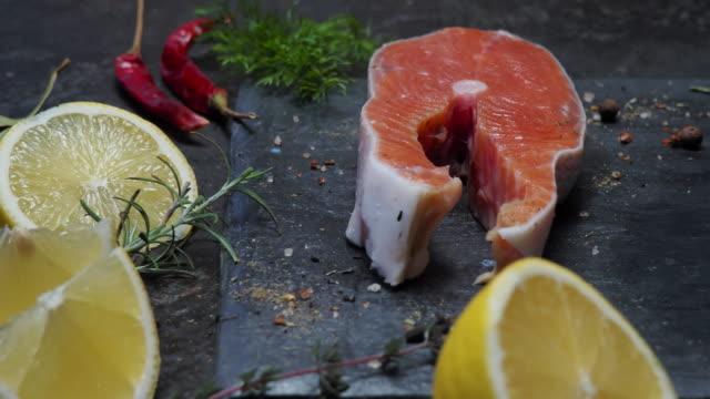 Salmon steaks video