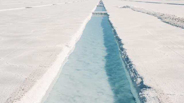 salt flat of argentina. - salt video stock e b–roll