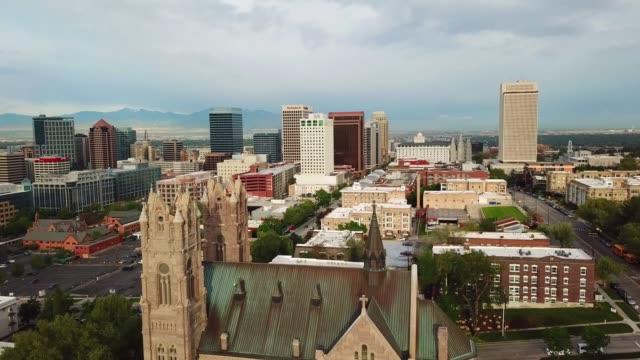 Salt Lake City! In Utah, seen from air Salt Lake City! In Utah, seen from air utah stock videos & royalty-free footage