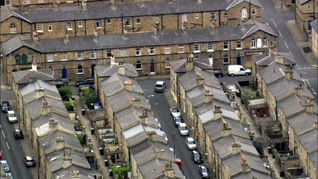 Salt Mill And Saltaire  - Aerial View - England,  Bradford,  Baildon,  United Kingdom video
