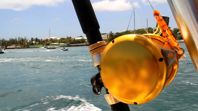 Saltwater Fishing Rod on Moving Boat video