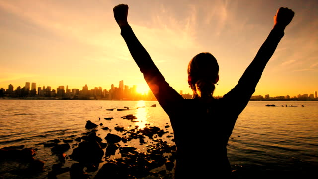 saluting the challenge of a new day - business goals stock videos & royalty-free footage