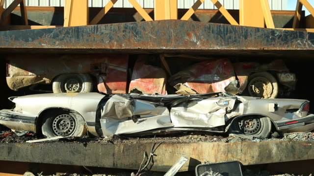 Salvage Yard Car Crusher Smashing Vehicles video