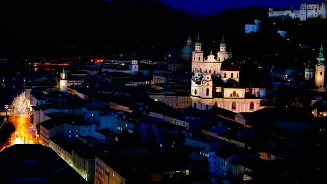 salzburg aerial view., tidsfördröjning. - videor med salzburg bildbanksvideor och videomaterial från bakom kulisserna