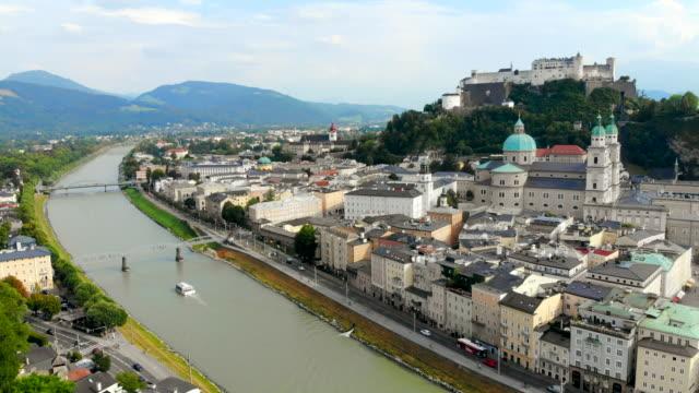 salzburg österrike antenn - videor med salzburg bildbanksvideor och videomaterial från bakom kulisserna