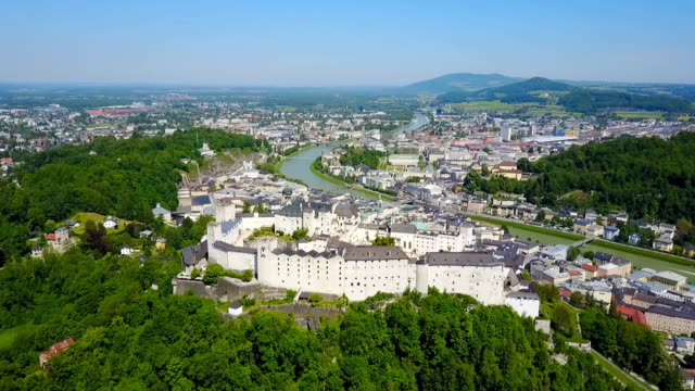 salzburg city flygfoto - videor med salzburg bildbanksvideor och videomaterial från bakom kulisserna