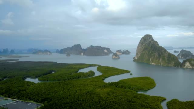 samed nangshe, tay dönüm noktası, okyanusun kenarı - mountain top stok videoları ve detay görüntü çekimi