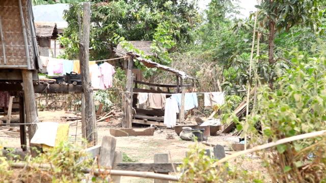 samkar village, мьянма - burma home do стоковые видео и кадры b-roll