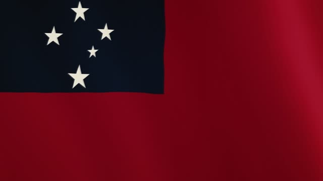 Samoa flag waving animation. Full Screen. Symbol of the country video