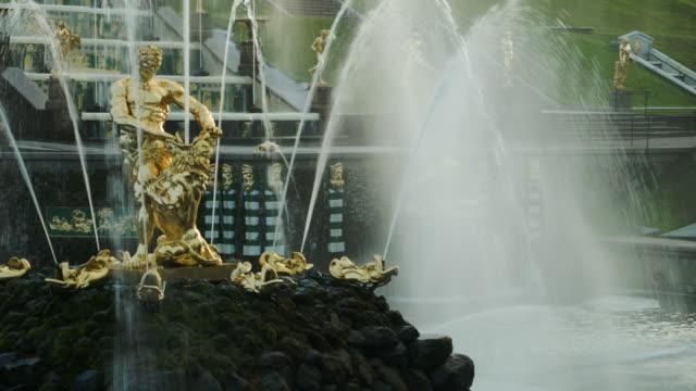 Samson fountain in Peterhof Russia
