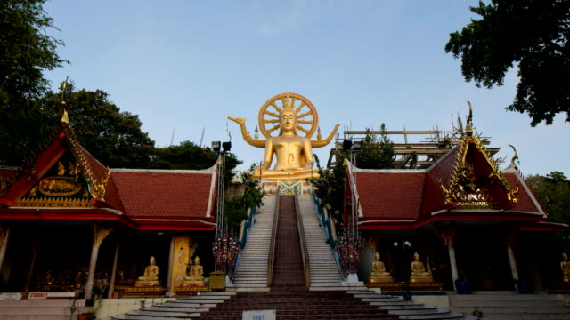 samui big buddha - stupa stok videoları ve detay görüntü çekimi