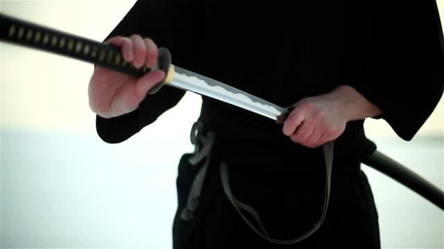 Samurai holding a sword