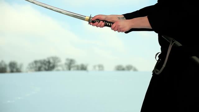 samurai - sword 個影片檔及 b 捲影像