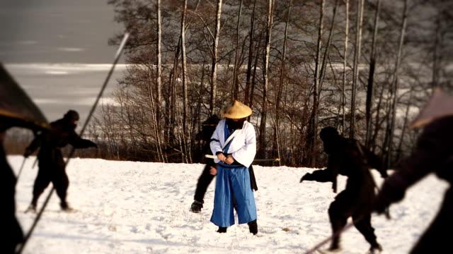 samurai samurai fighting with ninjas ninja stock videos & royalty-free footage