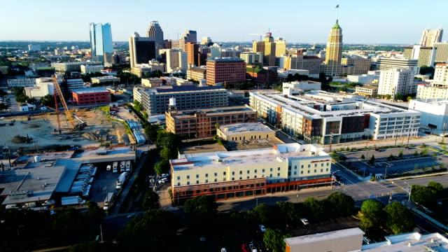 san antonio cityscape skyline - san antonio texas stock videos & royalty-free footage