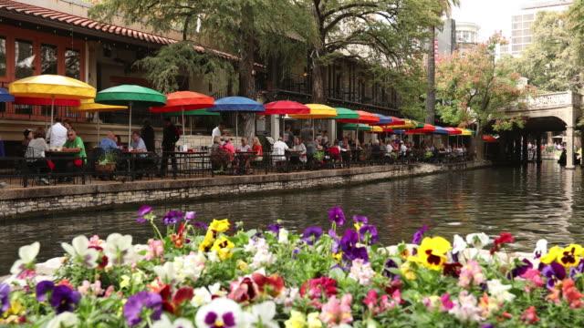 san antonio river walk canal - san antonio texas stock videos & royalty-free footage