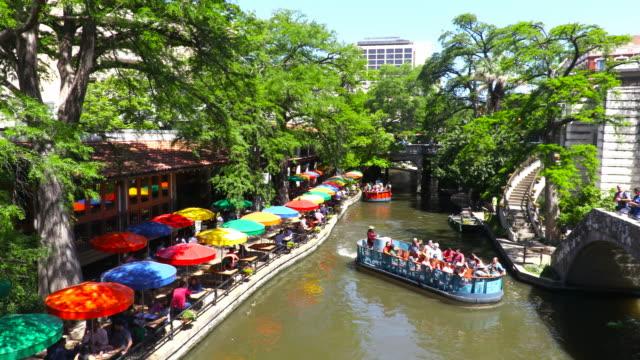 san antonio river walk - san antonio texas stock videos & royalty-free footage