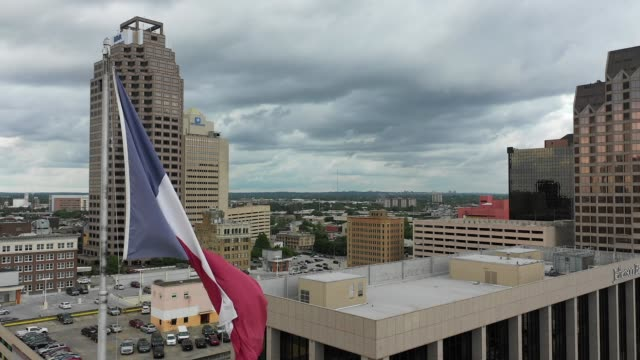 san antonio texas usa drone aerial view - san antonio texas stock videos & royalty-free footage