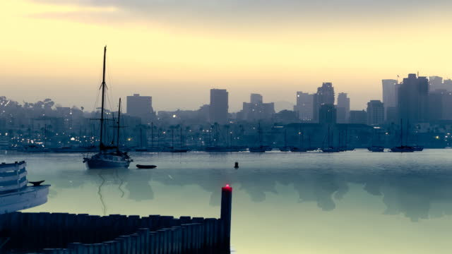 San Diego Bay and Downtown Animated  Panorama Pan video