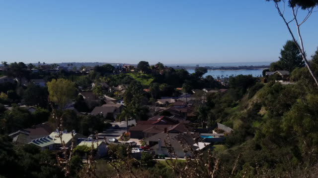 San Diego Canyons with view of Mission Bay video