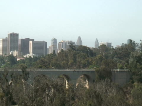 San Diego: City Skyline, Balboa Park from Aerial Cable Car video