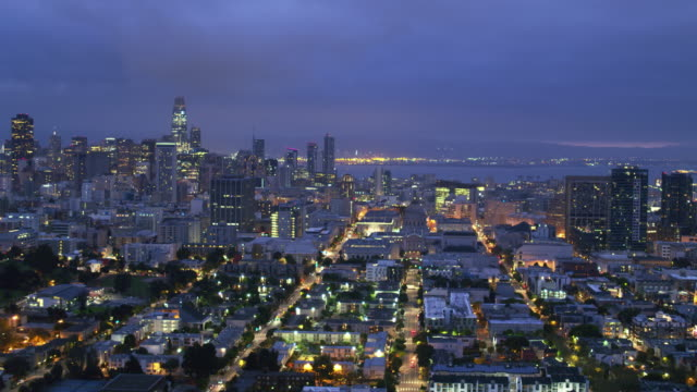 San Francisco Aerial Cityscape at Dawn video