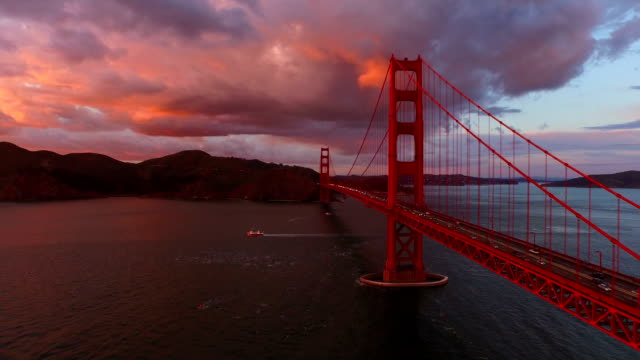 san francisco aerial - landmarks stock videos and b-roll footage
