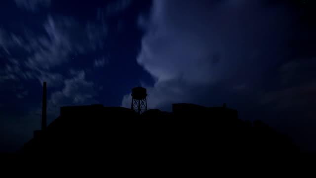 San Francisco Alcatraz night storm video