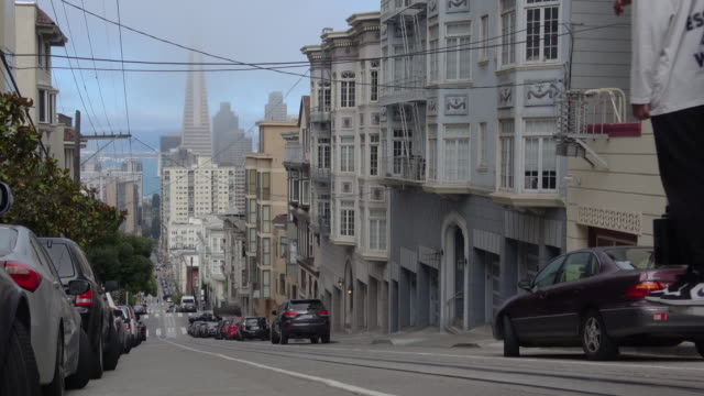 San Francisco architecture and cable car.