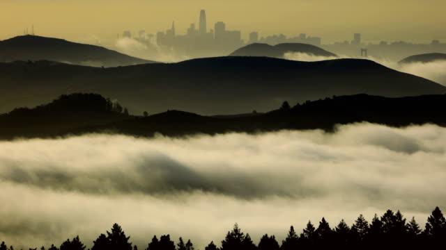 San Francisco bay at sunrise video