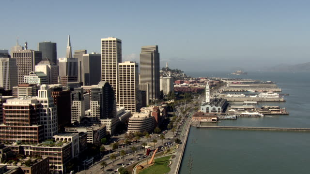 San Francisco Bay Bridge Aerial video