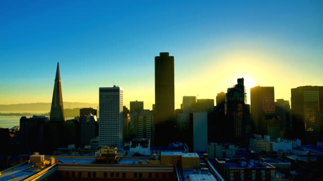 San Francisco, CA California 4K footage series sunrise dawn stock videos & royalty-free footage