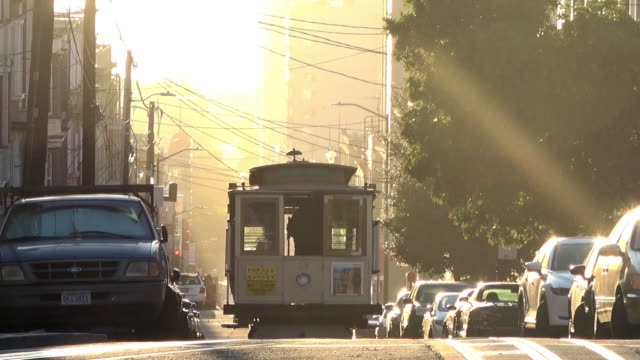 San Francisco Cable Car in Morning Light