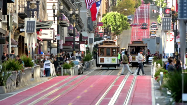 San Francisco cable cars on Powell Street video