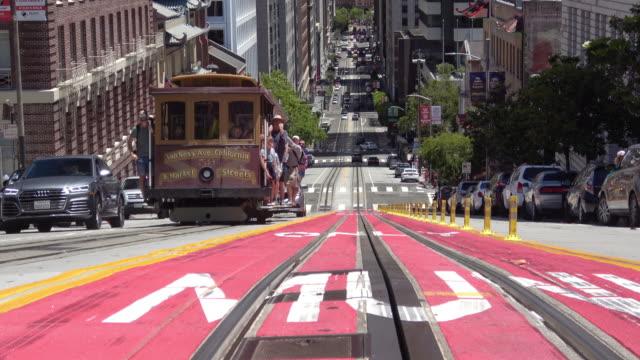 San Francisco California Street and Downtown