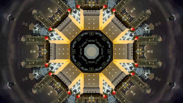 vídeos de stock e filmes b-roll de san francisco city made into shapes in video - mandala