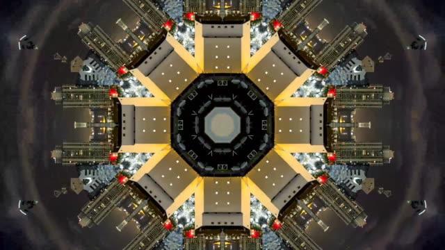 stockvideo's en b-roll-footage met san francisco city gemaakt in vormen in video - mandala