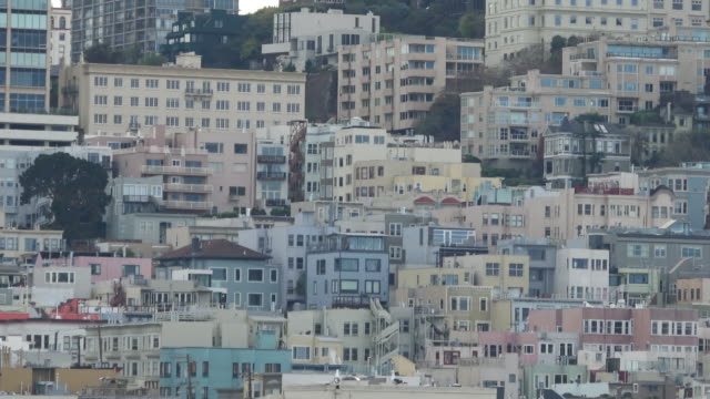 San Francisco Classic Victorian Homes at Russian Hill Expensive Real Estate with a View. house rental stock videos & royalty-free footage