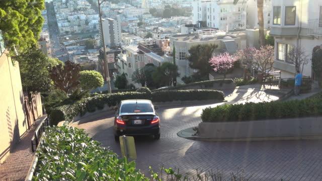 san francisco - berömda lombard street - kulle bildbanksvideor och videomaterial från bakom kulisserna