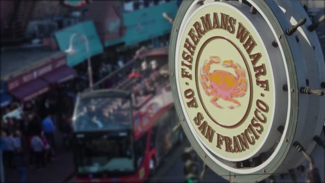 san francisco - fisherman's wharf - molo video stock e b–roll