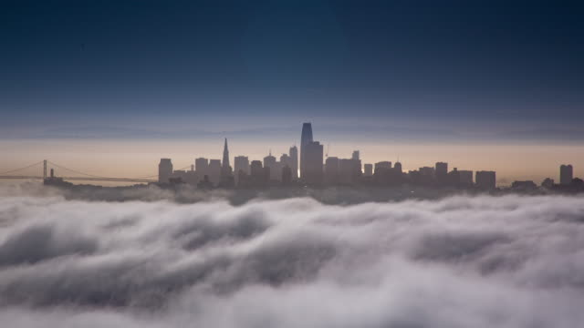 San Francisco Low Fog Morning Light