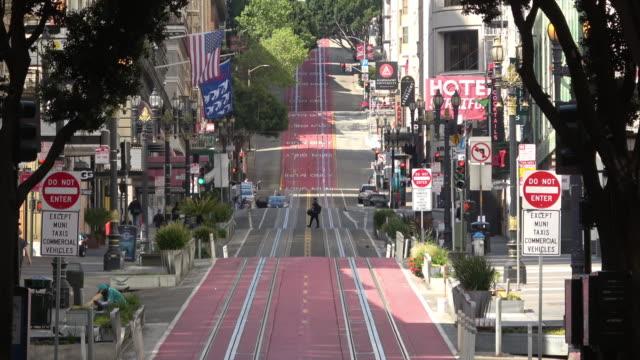 교통 체가 없는 샌프란시스코 파월 스트리트 - 도시 거리 스톡 비디오 및 b-롤 화면