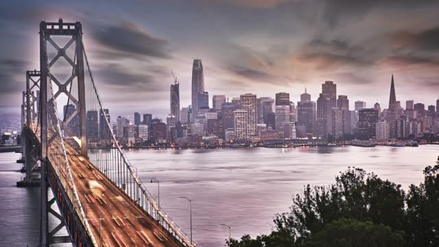 San Francisco skyline. Bridge