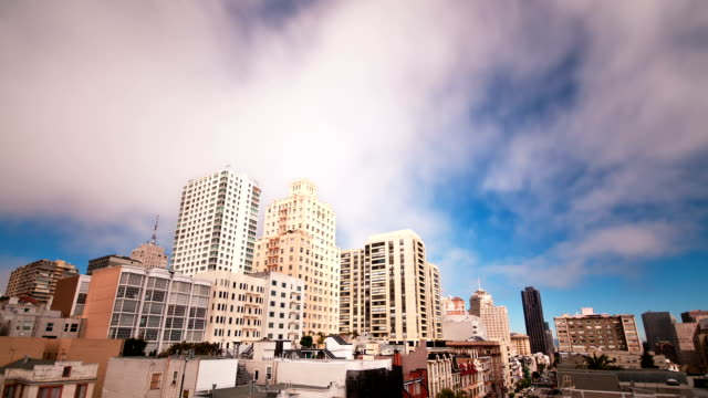 San Francisco skyline time lapse video