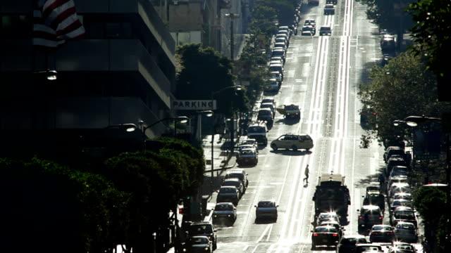 San Francisco streets backlit video