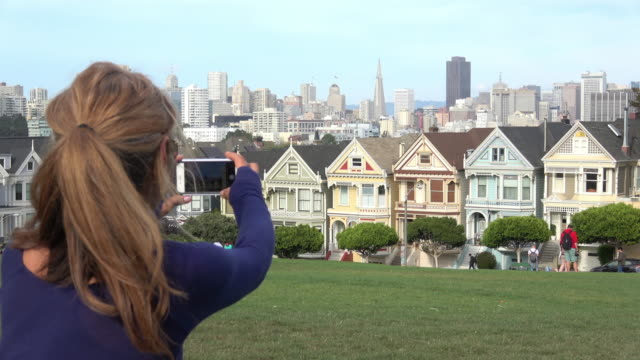 san francisco victorian achitecture - victorian architecture stock videos & royalty-free footage