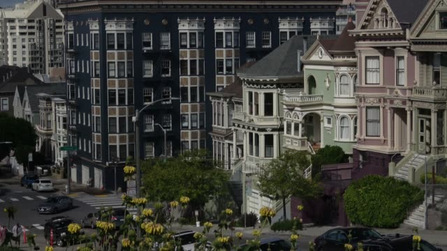 san francisco victorian homes - victorian architecture stock videos & royalty-free footage