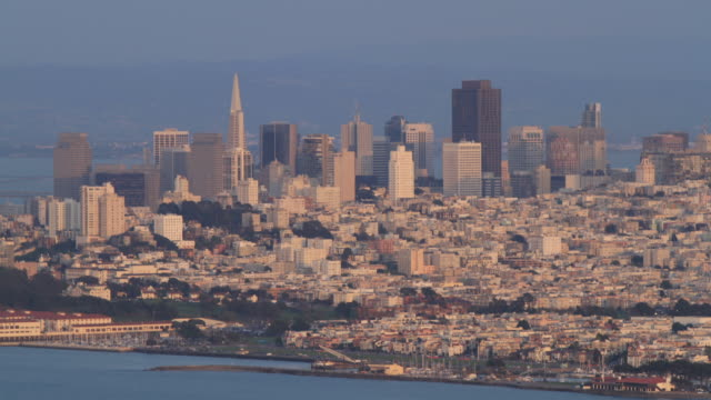 San Francisco Time lapse of San Francisco skyline sunset to night time lapse stock videos & royalty-free footage